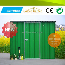 Durable multiple functions galvanized steel sheet garden shed log cabin