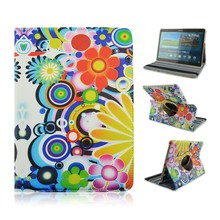 Colorful Bubble Prints 360 Rotatable Flip Standing PU Leather Pretective Case for Samsung Galaxy Tab S 10.5 T800