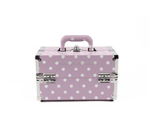 PVC carrying cosmetic case,makeup case,beauty case with dot pattern