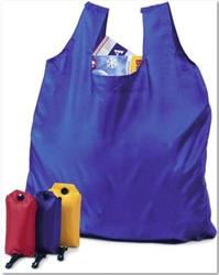 promotional custom 210d polyester folding shopping bag