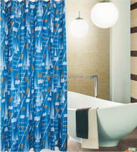 "custom printed 90gsm polyester bathrom 72""*72"" shower curtain"