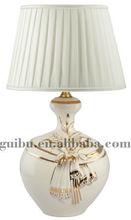 de venta hermosamente blanco cerámico lámpara de mesa