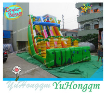 children inflatable jungle slide with double lane for commercial use