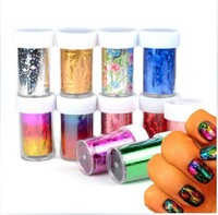 LOT Galaxy 190Designs Foil For Nails Transfer Foil Sequins Adhesive Nail Art Wrapper Tip Sticker Decoration For Women