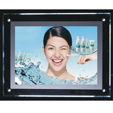 Single/Double Sides Crystal Light Box Common Silver/Black Low Power Consumption LED Advertisement Light Box