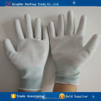 DANFENG NLR104 Wholesale anti static carbon fiber coated work safety gloves