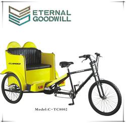 26 inch electric tricycle rickshaw passager pedicab/truck cargo rickshaw/battery rickshaw/TC8002
