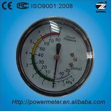 YE 63mm 2.5 inch back connection -2 to 8 kpa bellows gas lpg pressure gauge regulator measuring instrument