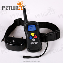 Wireless LCD Shock Control Pet Dog Training Shock and Bark Collar with 300 Meters Range 16 Levels Of Vibration and Shock