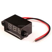 "0.28"" Auto Gauge 2 Wires DC 12V Red Led Digital Motorcycle Waterproof Volt Meter"