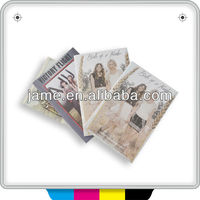 2014 CMYK softcover periodical magazine for printing company