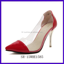 SR-15WHE1585 women new exotic high heel shoes fashion pu ladies high heel shoes red star style pencil high heel shoes