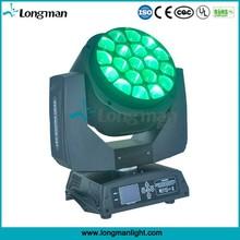 UL 19*15w RGBW Dmx Led Sound Control b eye moving head
