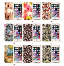 Coloured Drawing Pattern PU+ PC Hard Back Case for iPhone 6 4.7 inch Hard Case