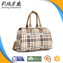 China Cheap Classic Fashion Tote Leather Foldable Polo Custom Travel Bag Duffle Bag With Long Shoulder Strap Manufacturers Price
