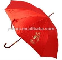 2012 fashion auto open straight Bride umbrella