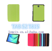 Ultra Thin Three Folding Smart PU Leather Tablet Cover Case For Samsung Galaxy Tab S2 9.7 SM-T815 Wholesale