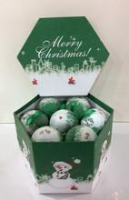 Wholesale Shatterproof Plastic Shinny Snow Man Christmas Ball Ornaments