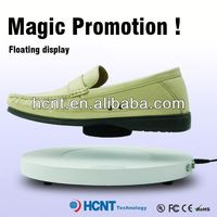 new invention ! magnetic levitating led display stand for shoe woman,stockings shoes