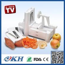 As Seen On Tv Tri-blade Plastic Spiral Vegetable Slicer, Spiral Manual Fruit Vegetable Cutter