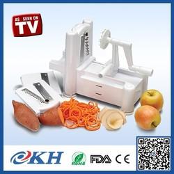 Vegetable Spiral Slicer As Seen On TV, Innovative Manual Vegetable Cutter, Tri-blade Plastic Spiral Vegetable Slicer