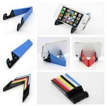 Multiple V-shape folding desk holder plastic lightweight non-slip mobile phone display stand