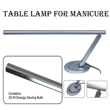 silver color salon office fold metal 20w nail desl table lamp for manicure