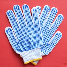 60g brand product pvc dotted wonderful and durable gloves with new design