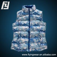 Mens Landscape Down Fill Feather Vest Jacket New