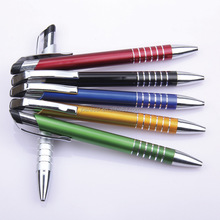 advertising customized brand company metallic paint plastic ballpoint pen