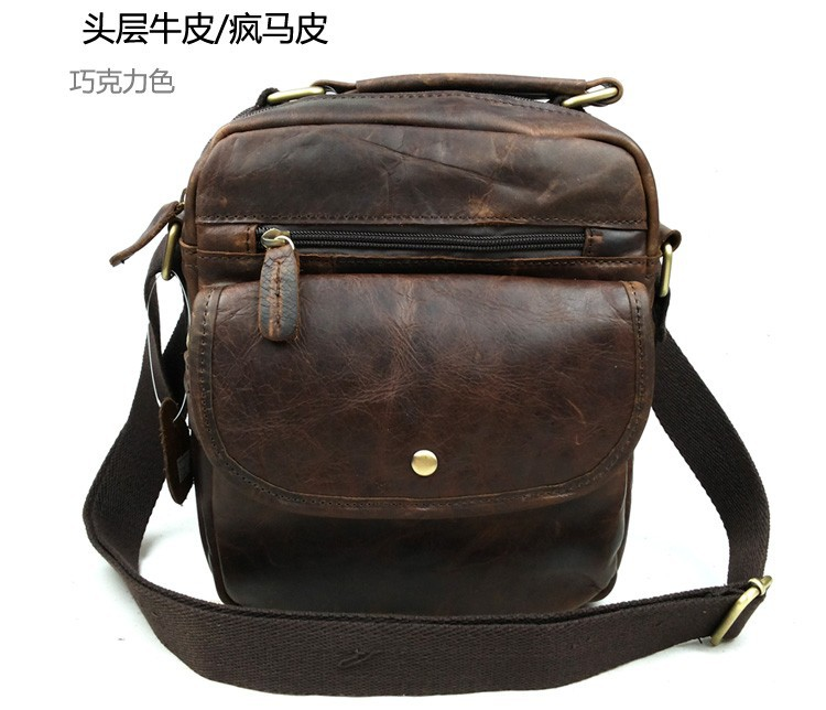 Wholesale Fashion Vintage Real Leather Small Cross Body Shoulder Bags