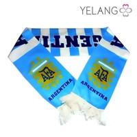 custom football club team kintted jacquard fan scarves