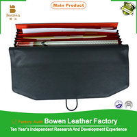 Customized Genuine Leather Zippered Leather Diary Cover