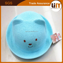new design wholesale fashion paper straw hat blue fancy knitted hats for children