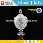 popular de vidro prato de frutas com suporte