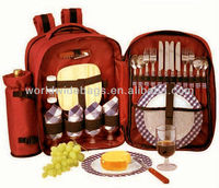 Fashion Design Outdoor Picnic Bag Set with Picnic Mat