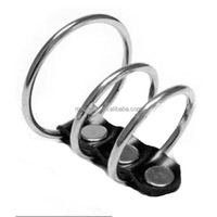 3 Rings Penis Restraint CR106 Stainless Steel Sexy Cock Ring for Men