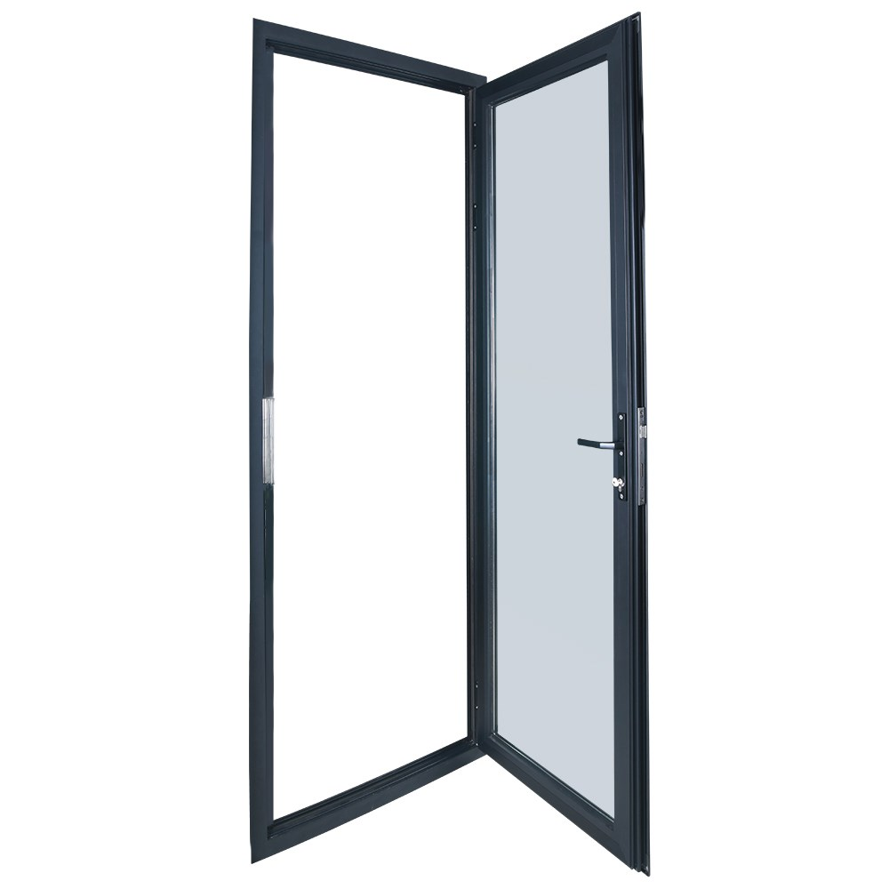Puerta cristal abatible puerta cristal satinado with - Puertas abatibles de cristal ...