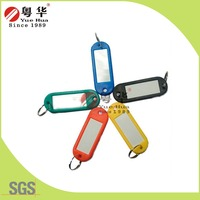 Five Colors Blank Plastic Key Tag