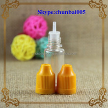 Mass inventory,24-48hours ship out!!! pet soft e liquid bottle 10ml with childproof dropper&long thin tip