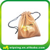 Custom Leather Drawstring Pouch With Logo Printed