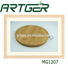 round shaped cheap wooden cutting board