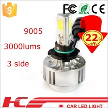highest lumens 6000lm car led 9005 h1 h4 h7 high low all in one led car headlights