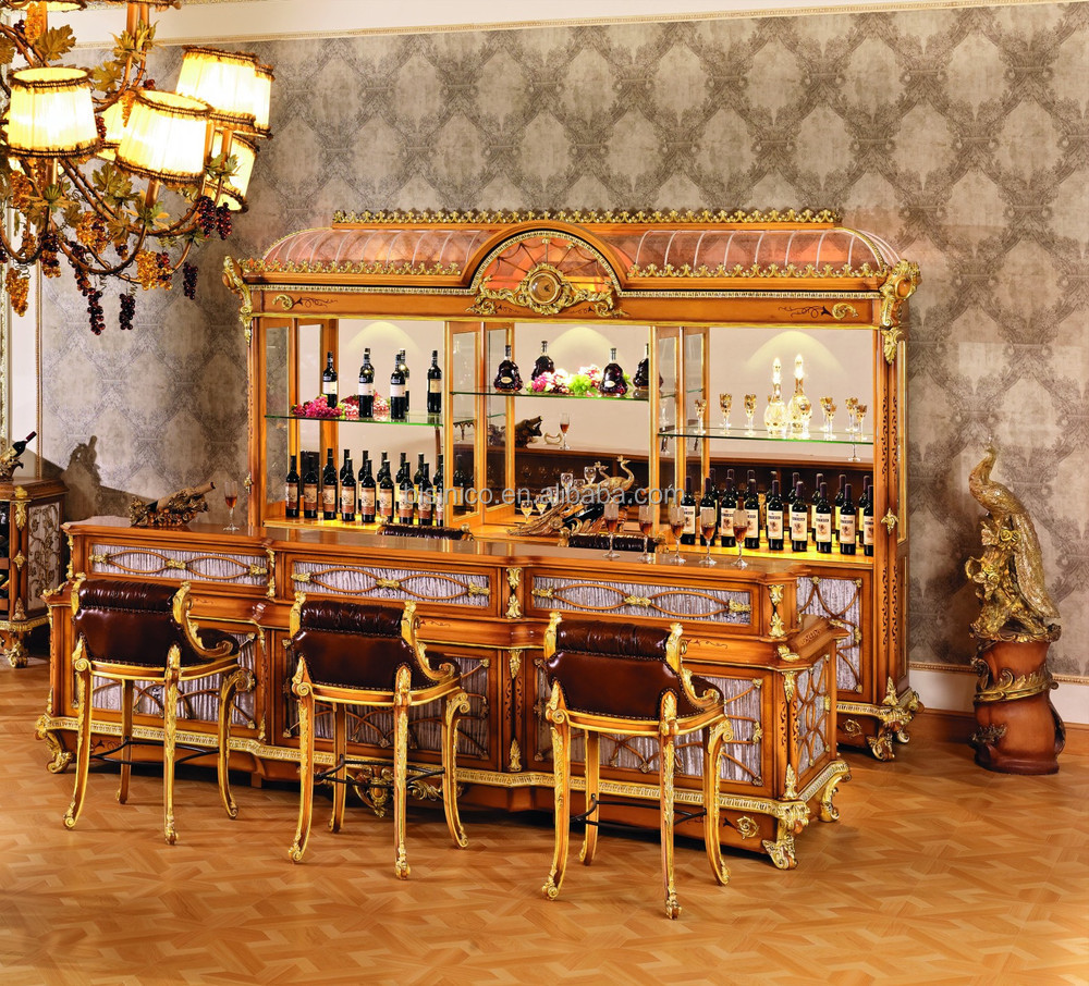 Luxury French Style Baroque Home Bar Furniture/european Classic Mini ...