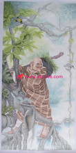 high quality chinese old god copy painting of famous artist