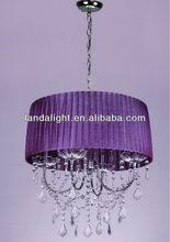 moderno de color púrpura cortina de la tela de araña