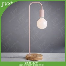modern table lamp with fabric power cord,pink table lamp