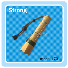 rechargeable portable XPE 3w led flashlight torches factory direct sales