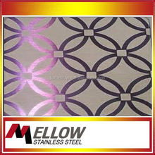 Mellow 304 Elevator Etching Stainless Steel Elevator Etching Sheet