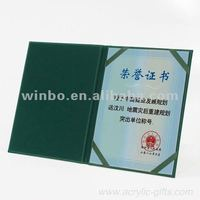 Leather certificate